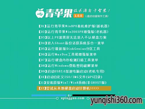 u盘启动盘制作软件青苹果V1.56绿色纯净版